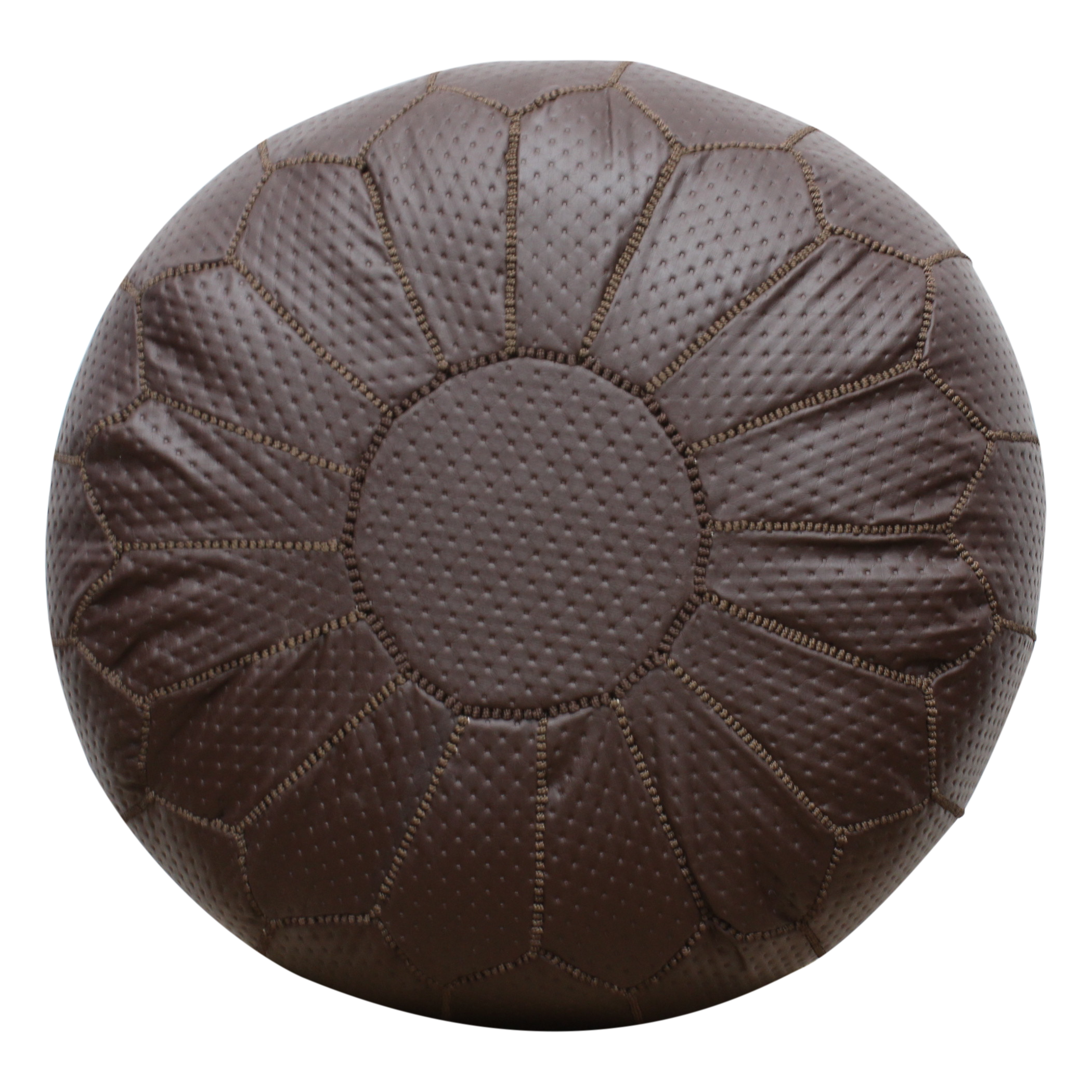 Strange Moroccan Pouffe Pouf Ottoman Footstool Cover Only Or Stuffed Contemporary Brown Faux Leather Short Links Chair Design For Home Short Linksinfo